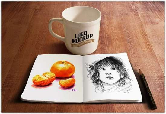 sketchbook_and_coffee_cup_mockup