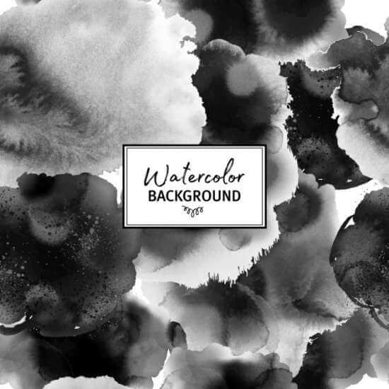 black_and_white_watercolor_pattern