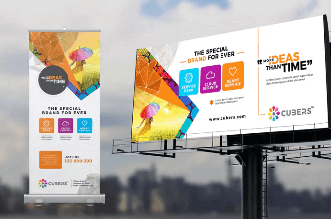 New Corporate Roll Up Billboard Template Design