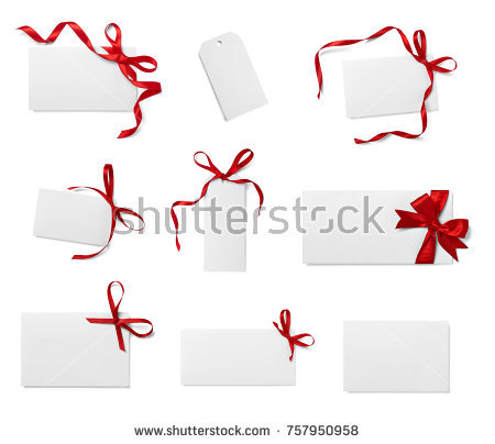 collection_of_various_note_card_with_ribbon_bow_on_white_background