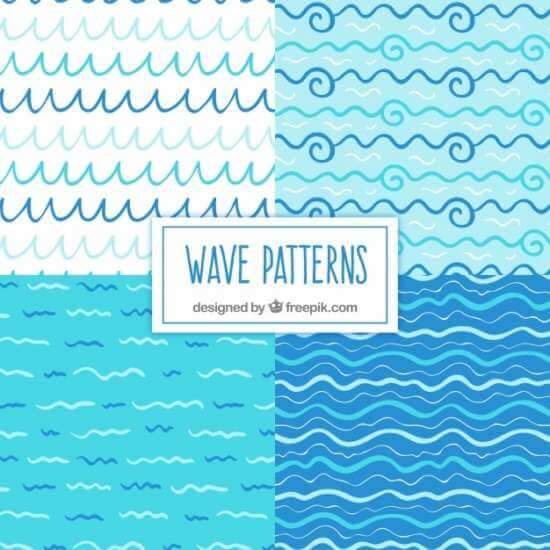 variety_of_handdrawn_wave_patterns