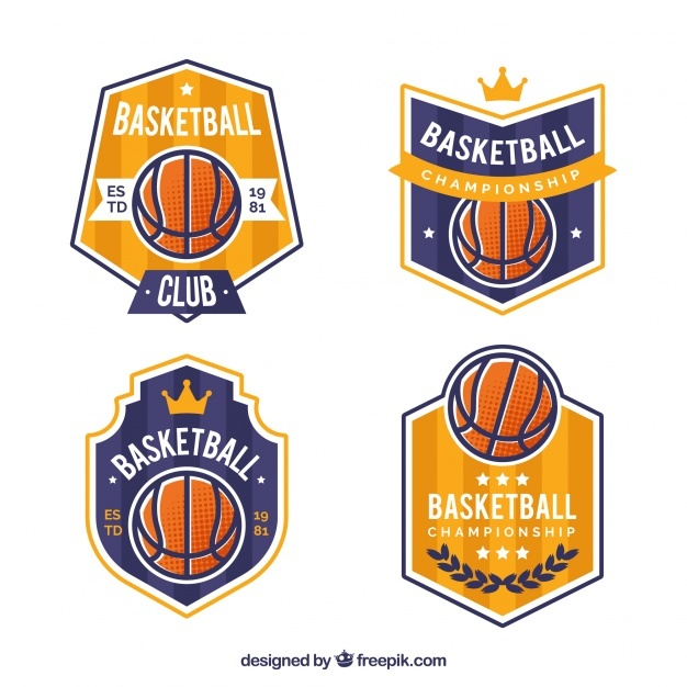 golden_and_blue_basketball_logo_collection
