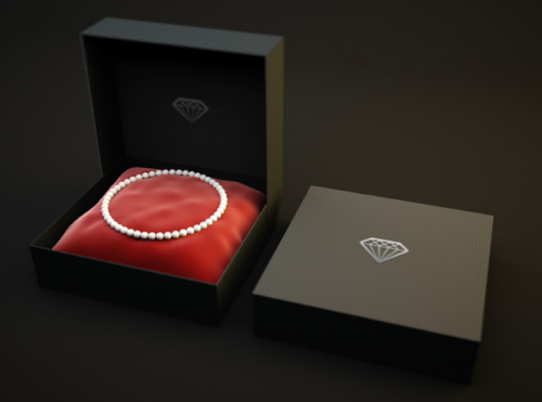 Free Black Jewelry Box Mockup