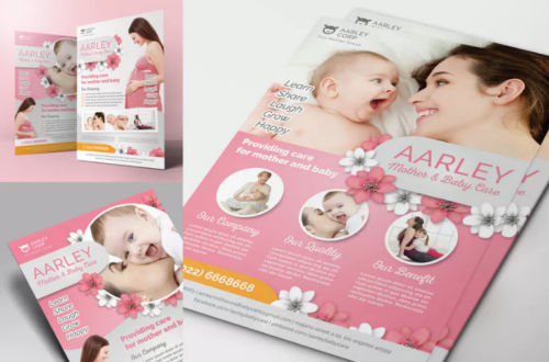 mother_and_baby_care_flyer_template