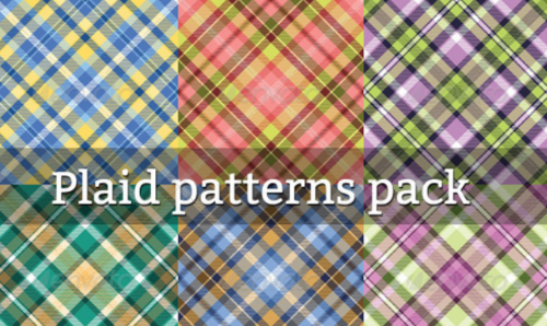 set_of_seamless_plaid_pattern_eps_psd
