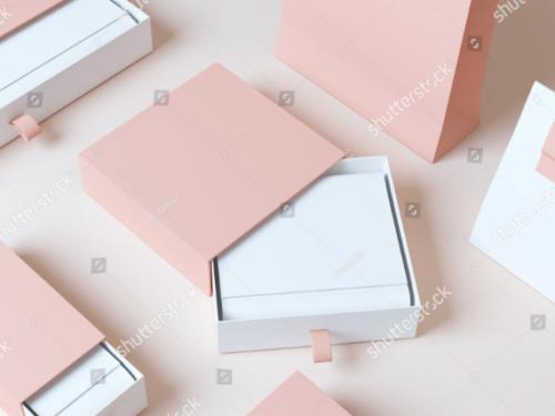 set_elegant_packaging_box_3d_rendering