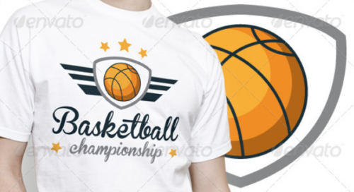 basketball_championship_wings_logo_template