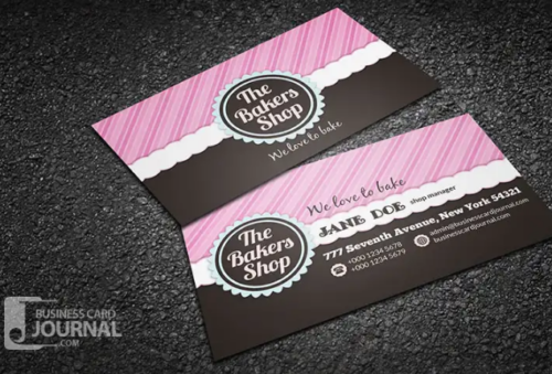 beautiful fancy bakery shop business card template beautiful_fancy_bakery_shop_business_card_template - Fancy Business Cards