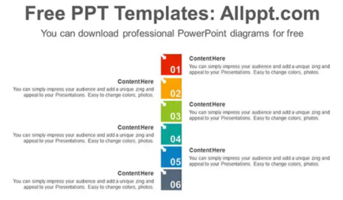numbering_square_list_power_point_diagram_template