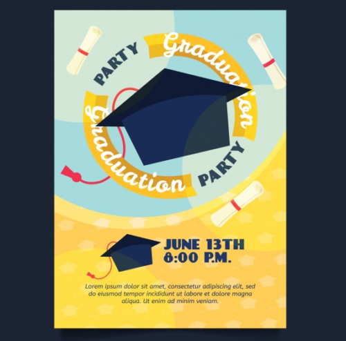 yellow_graduation_party_invitation_with_mortar_board