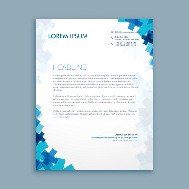 medical_letterhead_with_blue_shapes