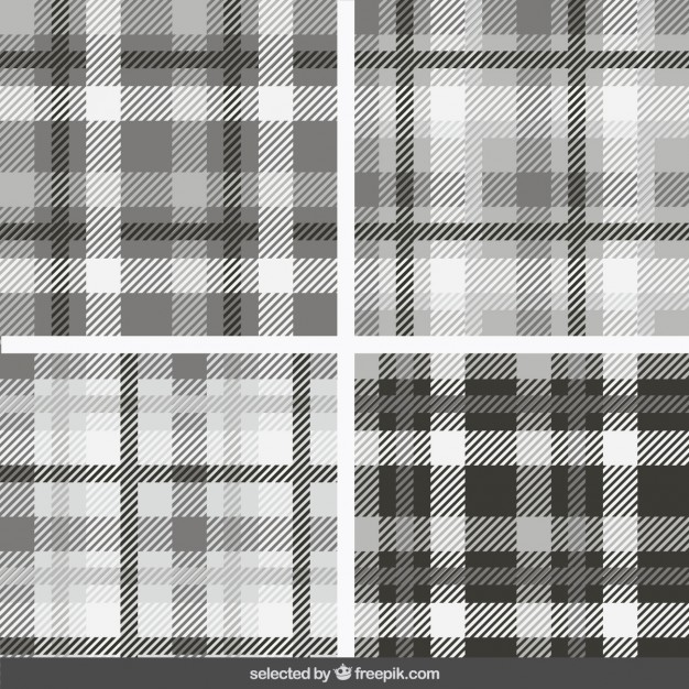 monochrome_tartan_patterns_collection