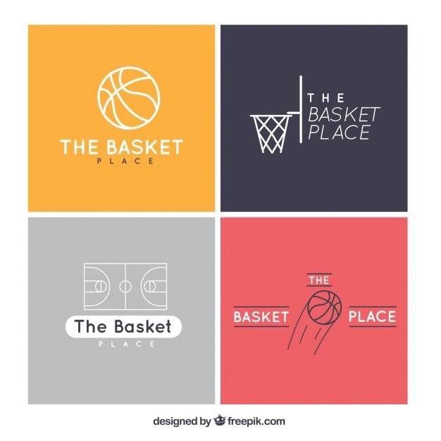 pack_of_four_flat_basketball_logos