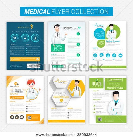 collection_of_health_and_medical_flyers_and_banners_decorated_with_illustration_of_doctor