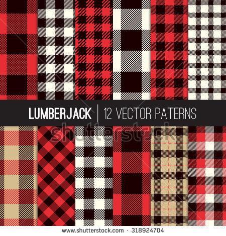 lumberjack_plaid_and_buffalo_check_patterns_red_black_white_and_khaki_plaid_tartan_and_gingham_patterns