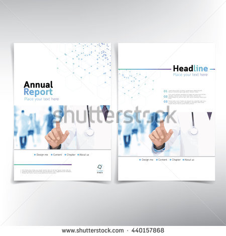 medical_cover_page_vector_template