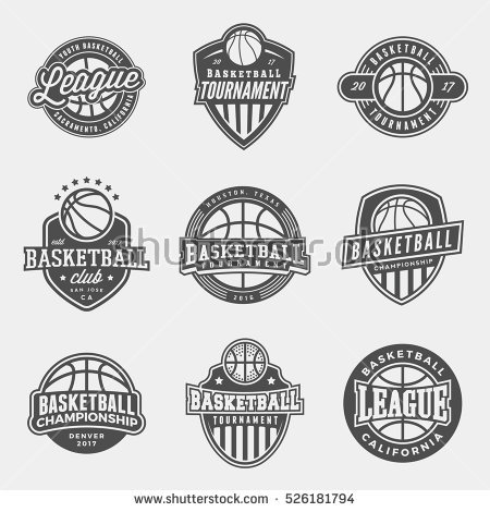set_of_logos_for_basketball_game_events_vector_illustration
