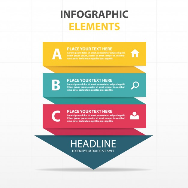 arrow_shaped_colorful_infographics