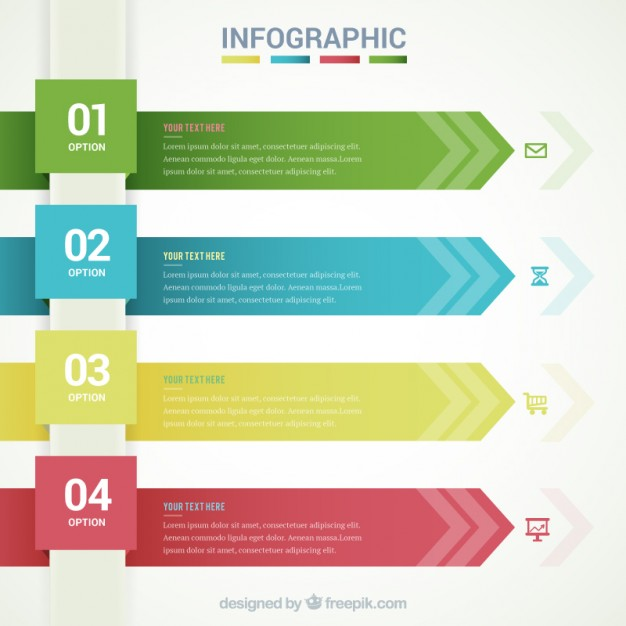 infographic_template_with_arrow_banners