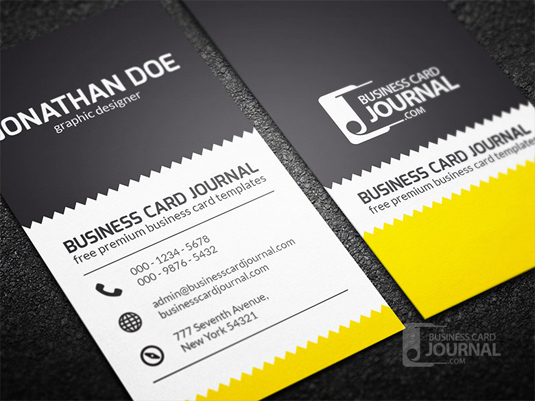 creative_zigzag_design_business_card