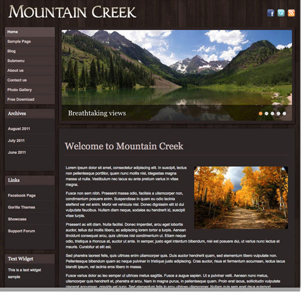 free_mountain_creek_wordpress_responsive_theme
