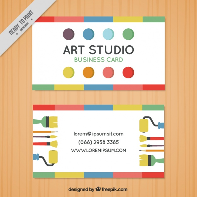 business_card_with_dots_art_studio