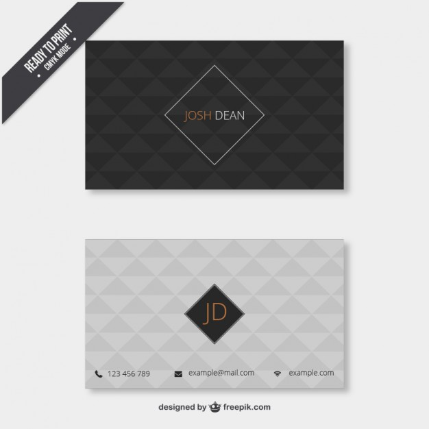 business_card_with_geometrical_pattern