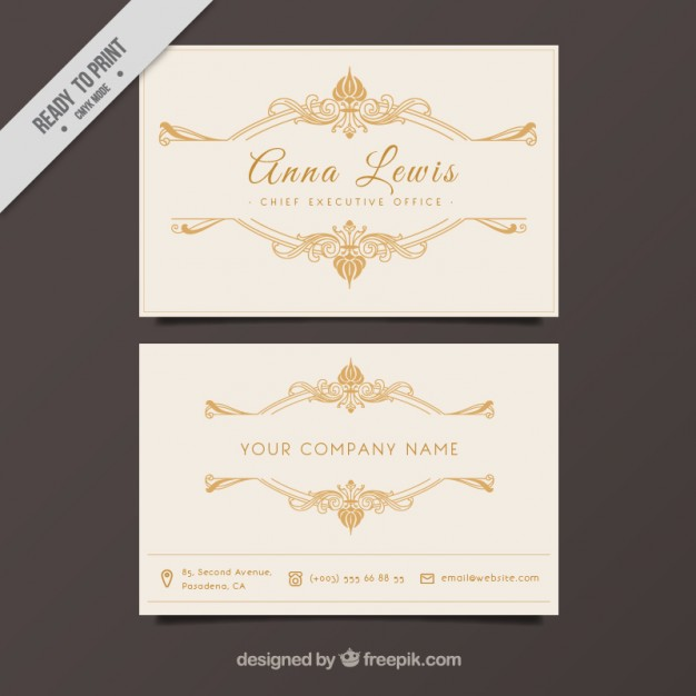 business_card_with_golden_ornaments
