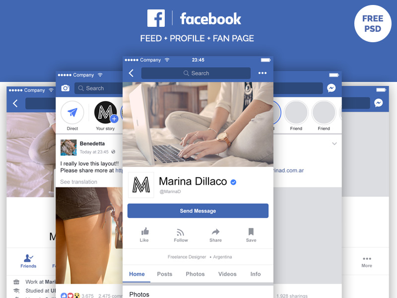 facebook_mobile_layout_free_psd