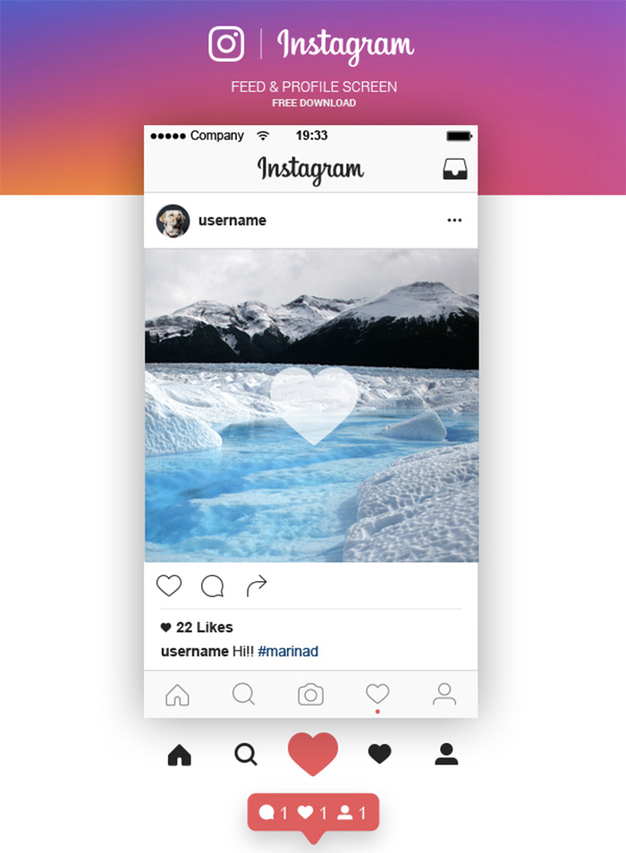 instagram_feed_and_profile_screen_ui