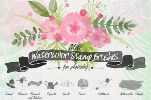 floral_watercolor_ps_stamp_brushes_for_adobe_photoshop_cs