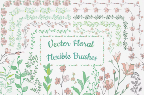 hand_drawn_floral_vector_flexible_brushes