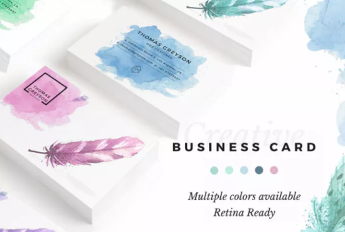 simple_business_card_template_with_watercolor_background