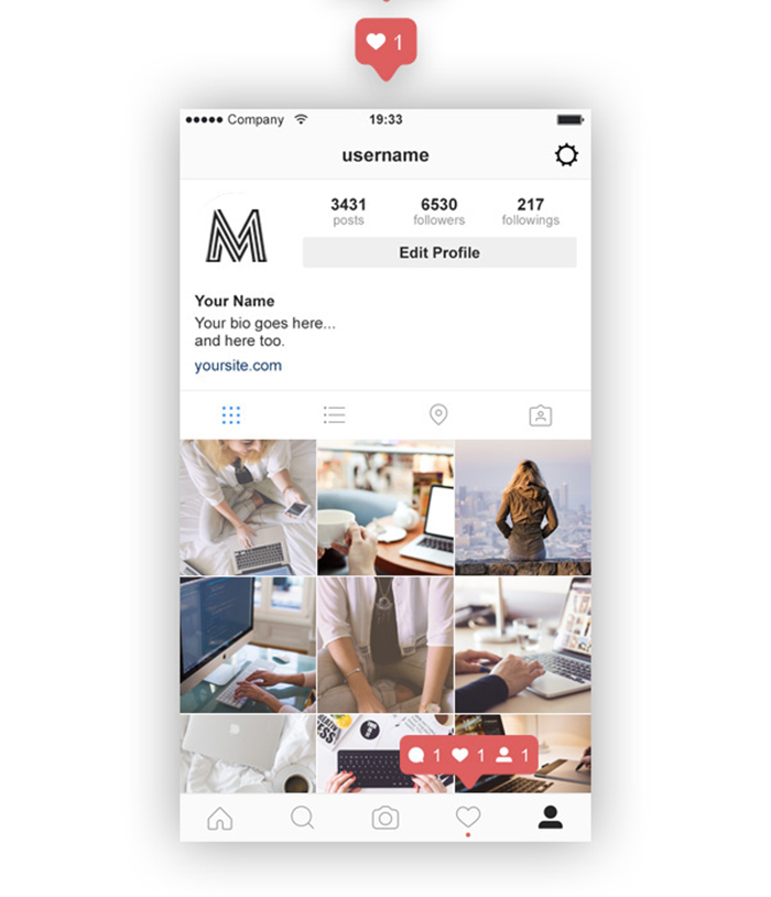instagram_feed_profile_screen_psd_ui