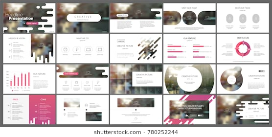 purple_presentation_templates_elements_on_a_white_background