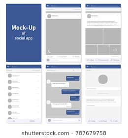 set_of_social_network_photo_post_frames_and_other_pages_vector_illustration