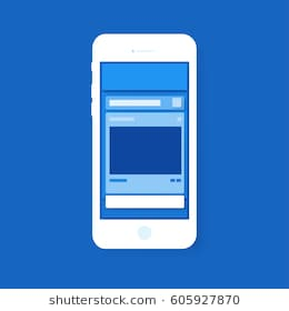 social_media_layout_popup_layer_with_blue_color_tone