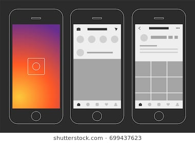 social_media_photo_app_display_vector