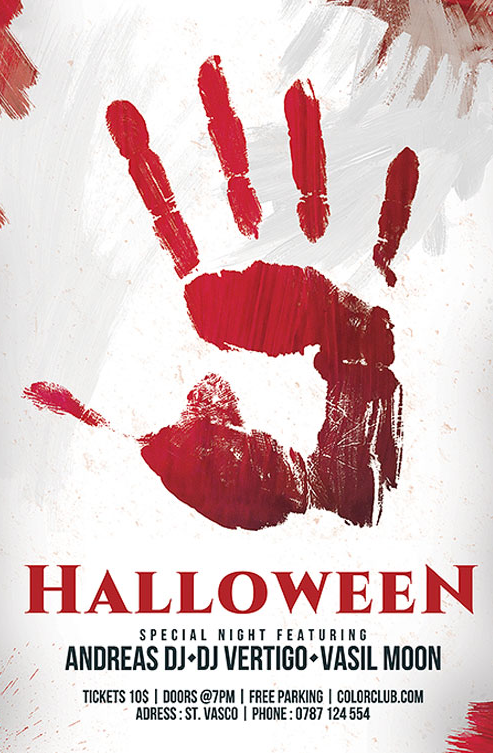 bloody_handprint_halloween_invitation_flyer