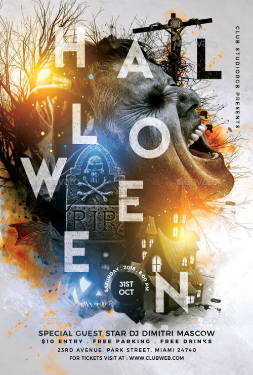 colorful_abstract_halloween_flyer