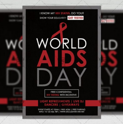 world_aids_day_community_a5_flyer_template