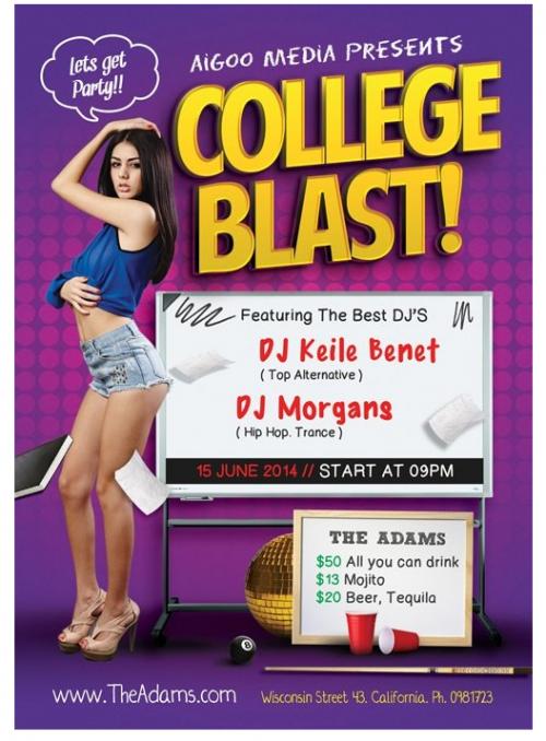 free_college_blast_psd_flyer_template