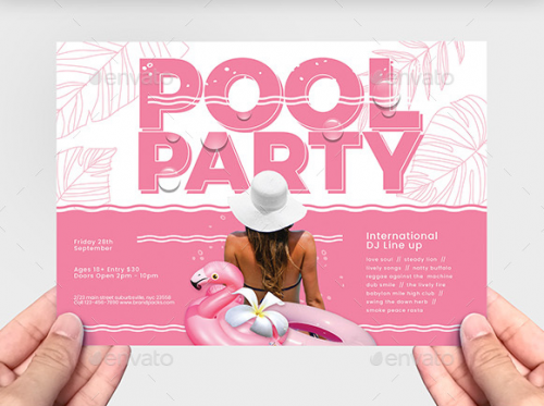 a5_pool_party_flyer_template