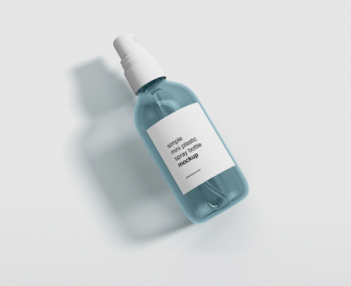 free_mini_plastic_spray_bottle_mockup