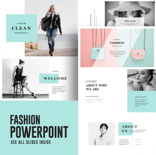 15+ Adorable Fashion Powerpoint Templates