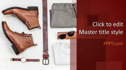 Free Men's Clothing PowerPoint Template