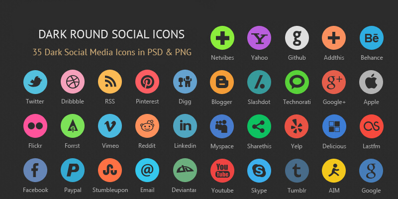 35_dark_rounded_social_icons_psd_png