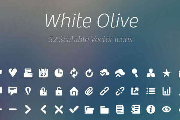 white_olive_icon_collection