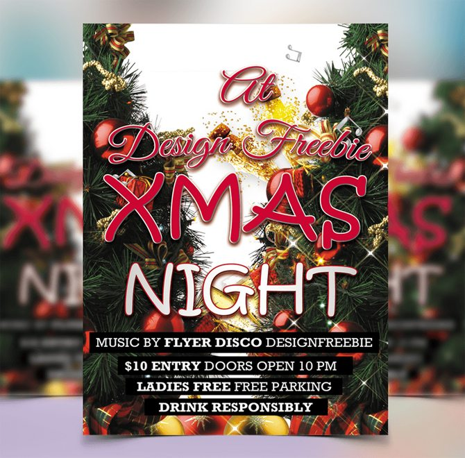 exclusive_christmas_night_party_flyer_template