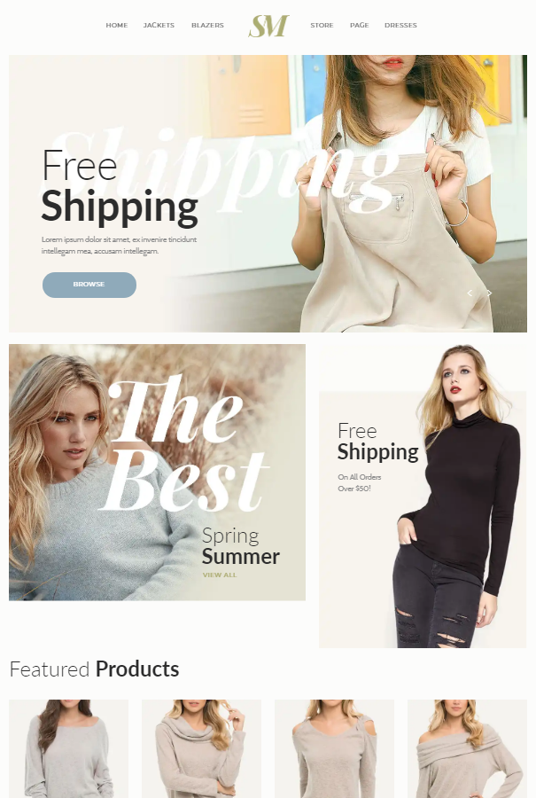 10+ Best Free & Premium Muse eCommerce Themes | Ginva